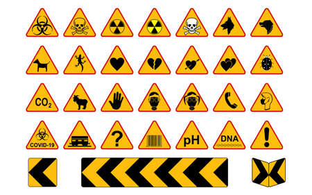 Road signs will fulfill the role of a standing policeman who warns about various dangers that can happen on the road. Illustration