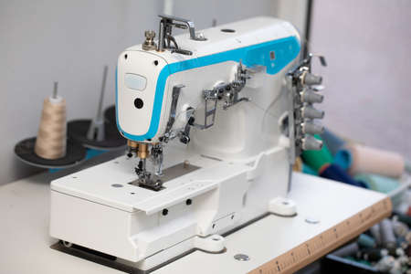 A specialized sewing machine for entrepreneurs who have large orders for fabric.