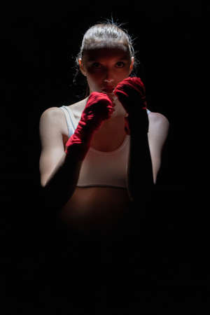 Contact and sharp sport in the ring for both women and men. Mixed Martial Arts.