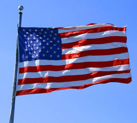 flagpoles: usa flag Stock Photo