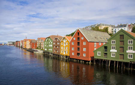 Old wooden houses in Trondheim, Norway