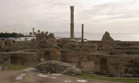 Historical ruins of Carthage, Cartagena, Tunisia photo