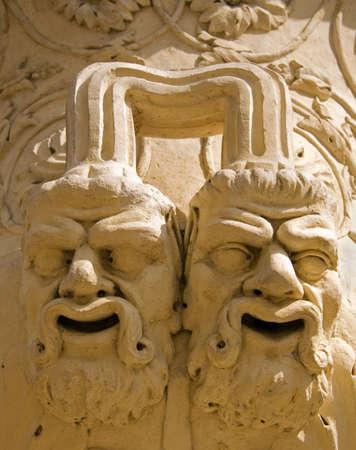 gargoyles: Closeup of gargoyles on the vase