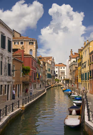 Idyllic canal view in Venice, Italy