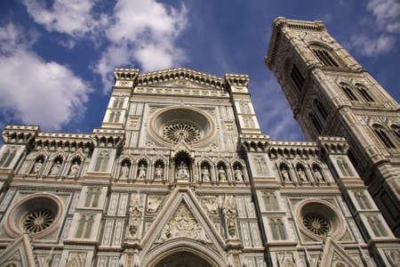 Front side of the Basilica di Santa Maria del Fiore, Florence, Italy