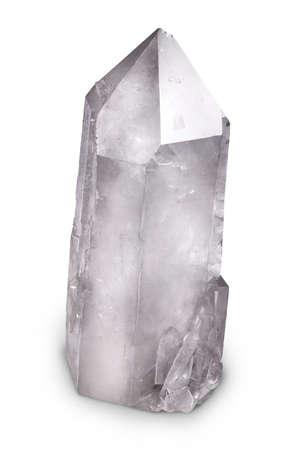 large rock: Big Natural Quartz Berg Crystal Isolated on White