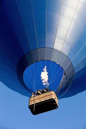 Blue air balloon overhead