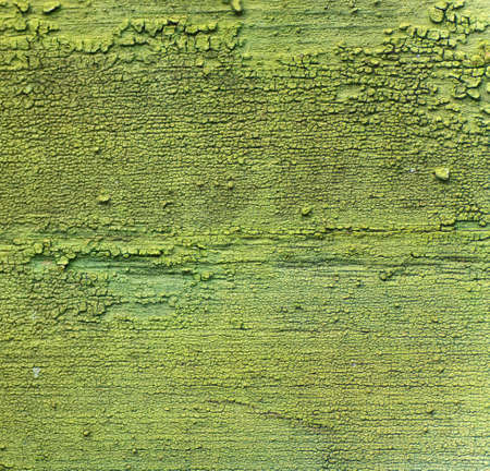 Abstract green wall paint peeling texture and background Stock Photo