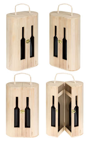 Present wine box isolated on white. Stock Photo - 4715345