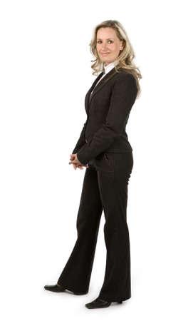 Businesswoman on white background Stock Photo - 4740092
