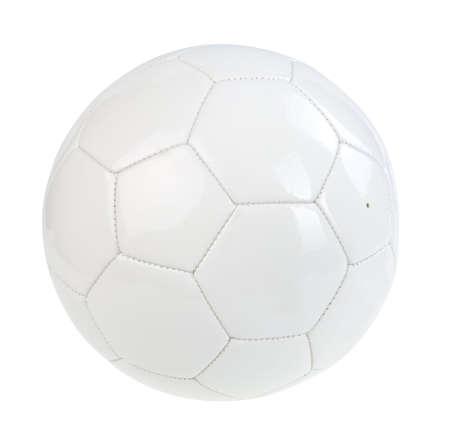 White football ball isolated on white. path
