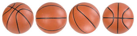 Four basketball ball isolated. paths Stock Photo