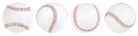 Four baseball ball isolated. paths