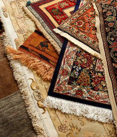 Oriental kunstvollen Teppich. Persisch Hand gemacht Lizenzfreie Bilder