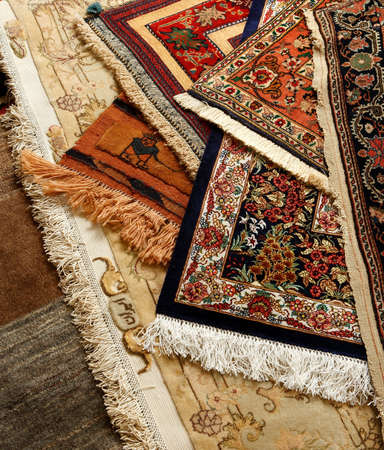 oriental: Oriental ornate carpet. Persian hand made