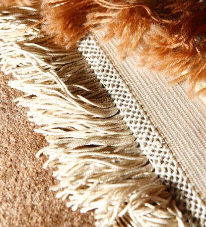 Macro shot of oriental rug. Handmade. Iranian