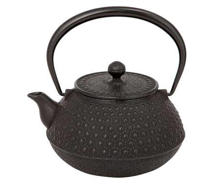 Typische asiatische Teekanne auf wei�em Hintergrund.