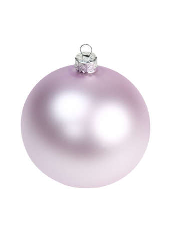 Christmas tree decoration isolated. Glass ball. Clipping path