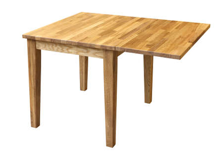 OAK table folding isolated on white. Clipping path