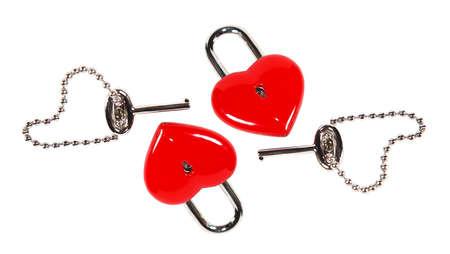 Heart shape lock and key