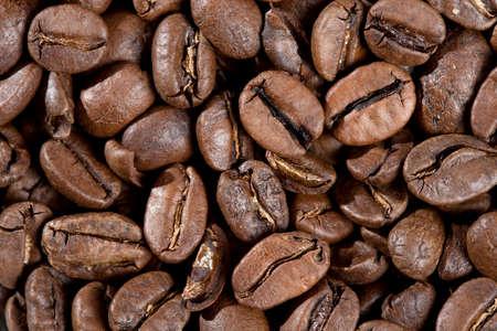 Makro-Aufnahme von ger�steten Kaffeebohnen. Arabica-Kaffee
