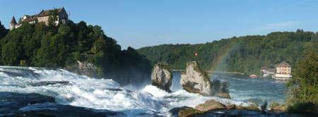 Rhinefall waterfall at Neuhausen Switzerland photo