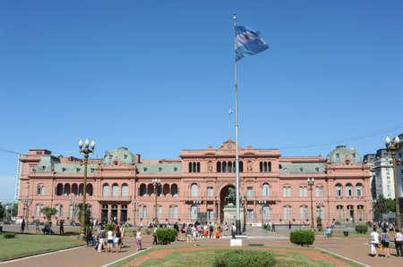 Casa Rosada in Plaza de Mayo a Buenos Aires Archivio Fotografico