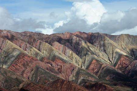 The Hornocal massiv on quebrada de humahuaca