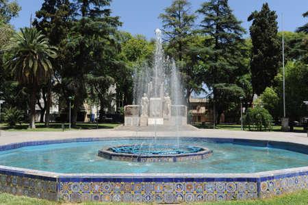 immigrants: italian immigrants monument at Mendoza Argentina