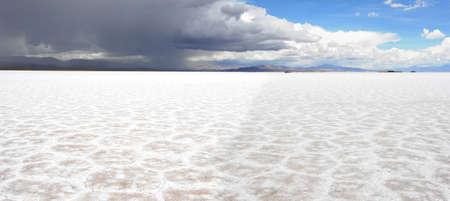 Salinas Grandes saline on argentina andes