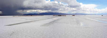 Soluzione salina Salinas Grandes sulle Ande argentina Archivio Fotografico