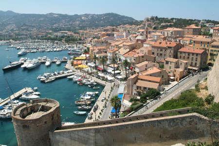 La cittadella di Calvi in ??Corsica Archivio Fotografico