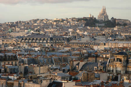 sacre coeur: toits de Paris Banque d'images