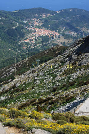 View from Monte Capanne to the village of Marciana Stock Photo - 10869111