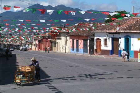 サン ・ クリストバル ・ デ ・ ラス ・ カサス チアパス州にで通りの販売 写真素材