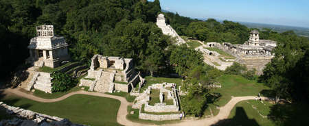 Maya temples of the archeological site of Palenque