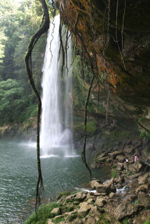 Misol-Ha waterfall on Chiapas