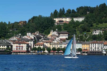village and lake Orta