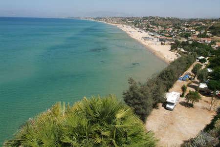castellammare del golfo: the beach of Castellammare del Golfo on Sicily Editorial
