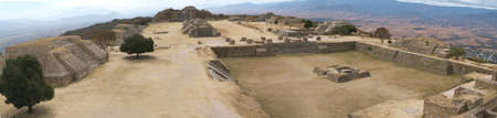 ���archeological site���: archeological site of Monte Alban at Oaxaca