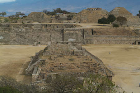 ��archeological site�: archeological site of Monte Alban at Oaxaca