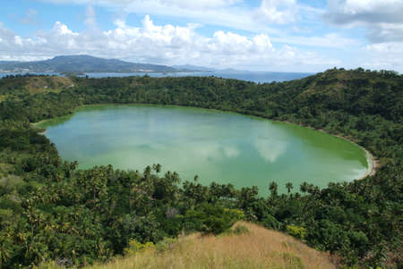 lake of vulcano Dziani at Mayotte island