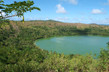 mayotte: lake of vulcano Dziani at Mayotte island