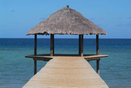 mayotte: Pier at Mayotte island