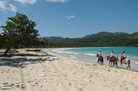 horse ride on Playa Rincon at Peninsula de Samana
