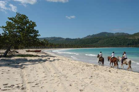 horse ride on Playa Rincon at Peninsula de Samana