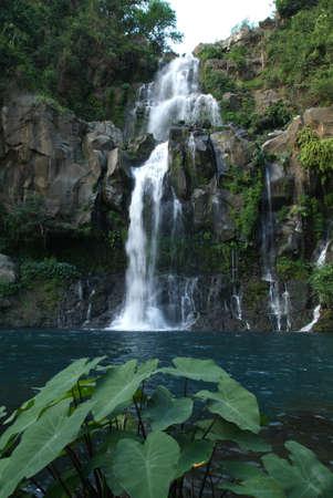 les Cormorans waterfall near Saint Gilles at Reunion island photo