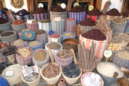sharm el sheik: Spices market at Naama bay near Sharm el Sheik  Editorial