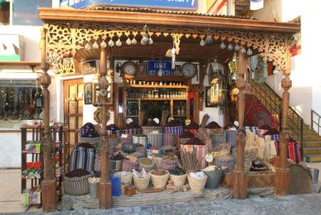 Mercato delle spezie a Naama Bay vicino a Sharm El Sheik Editoriali