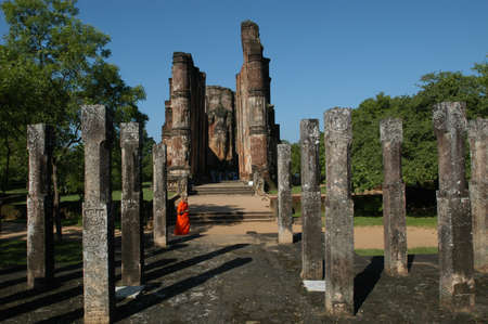 polonnaruwa: archeological site of Polonnaruwa  Stock Photo